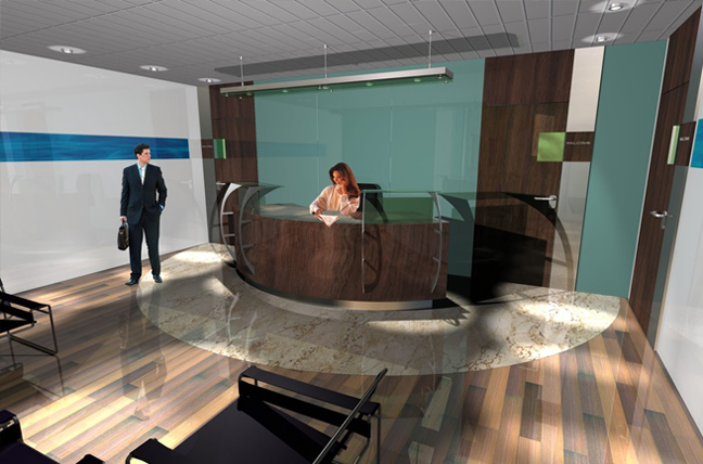 Reception 1 Street Crane Express Interior Design